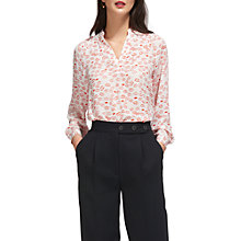 Buy Whistles Catalina Lips Blouse, Ivory/Multi Online at johnlewis.com