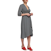 Buy Whistles Callie Striped Wrap Dress, Multi Online at johnlewis.com
