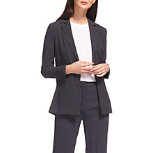 Buy Whistles Mini Spot Print Blazer, Navy Online at johnlewis.com