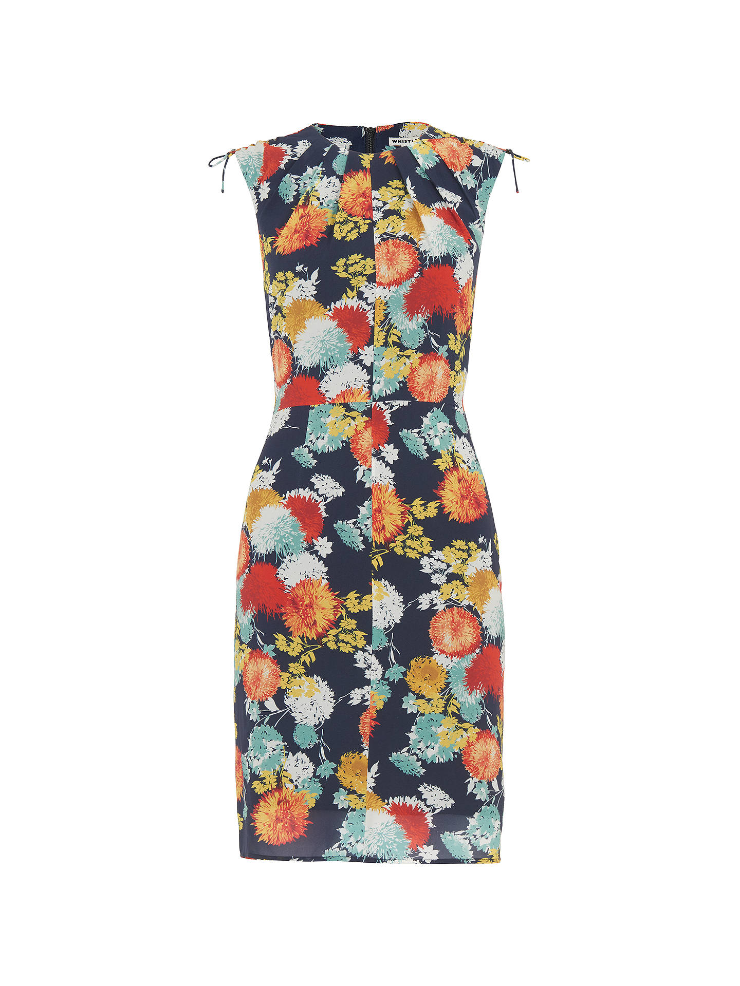 BuyWhistles Floral Print Bodycon Dress, Multi, 6 Online at johnlewis.com