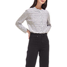 Buy Whistles Striped Cotton Jersey Shirt, Multi Online at johnlewis.com
