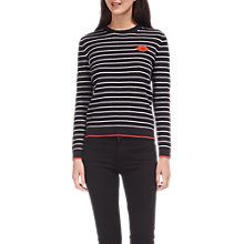 Buy Whistles Kiss Embroidered Knit Jumper, Multicolour Online at johnlewis.com