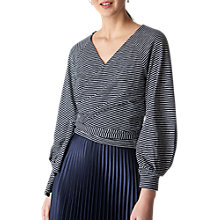 Buy Whistles Wrap Around Stripe Top, Multi Online at johnlewis.com