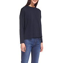 Buy Whistles Clean Cotton Swing T-Shirt, Navy Online at johnlewis.com