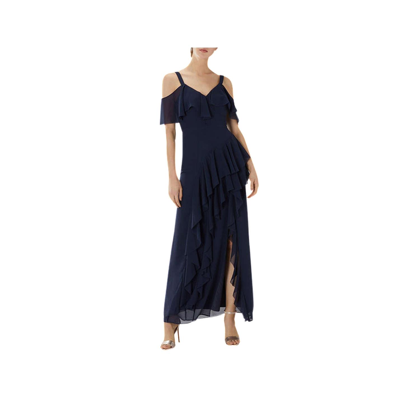 Coast Illy Ruffle Cold Shoulder Dress, Navy by Coast