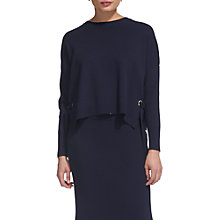 Buy Whistles Tie Side Jumper, Navy Online at johnlewis.com