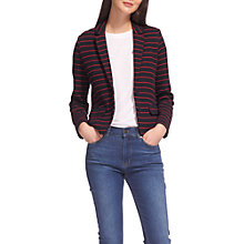 Buy Whistles Stripe Jersey Jacket, Navy/Multi Online at johnlewis.com