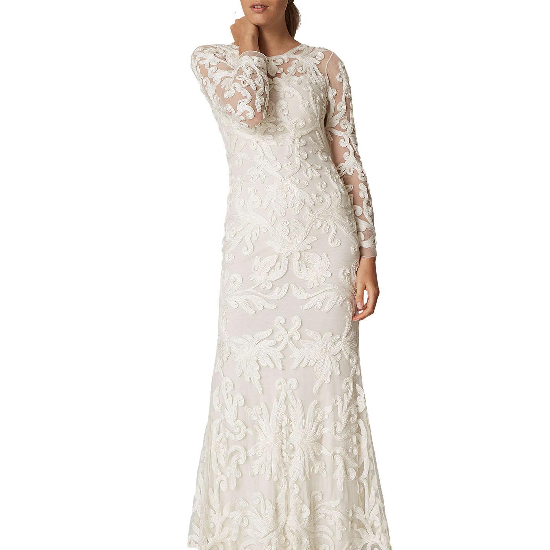 Chiffon overlay three quarter sleeve dress