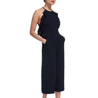 Whistles Sonia Frill Jumpsuit, Navy