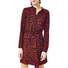 Buy Warehouse Leopard Print Dress, Red Pattern Online at johnlewis.com