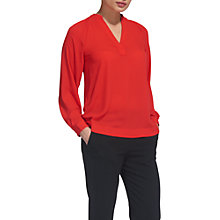 Buy Whistles Catalina V-Neck Top, Red Online at johnlewis.com