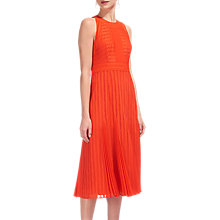 Buy Whistles Nora Lace Pleat Dress Online at johnlewis.com