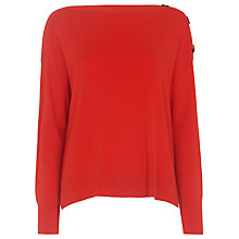 Buy Whistles Side Button Relaxed Knit Jumper Online at johnlewis.com