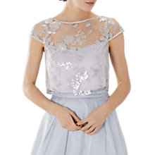 Buy Coast Nicia Lace Sequin Top, Silver Online at johnlewis.com