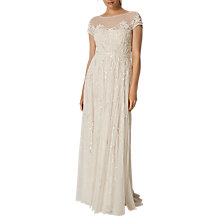 Buy Phase Eight Embellished Liliana Wedding Dress, White Snow Online at johnlewis.com