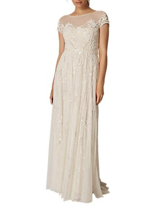 Phase Eight Bridal Embellished Liliana Wedding Dress, White Snow
