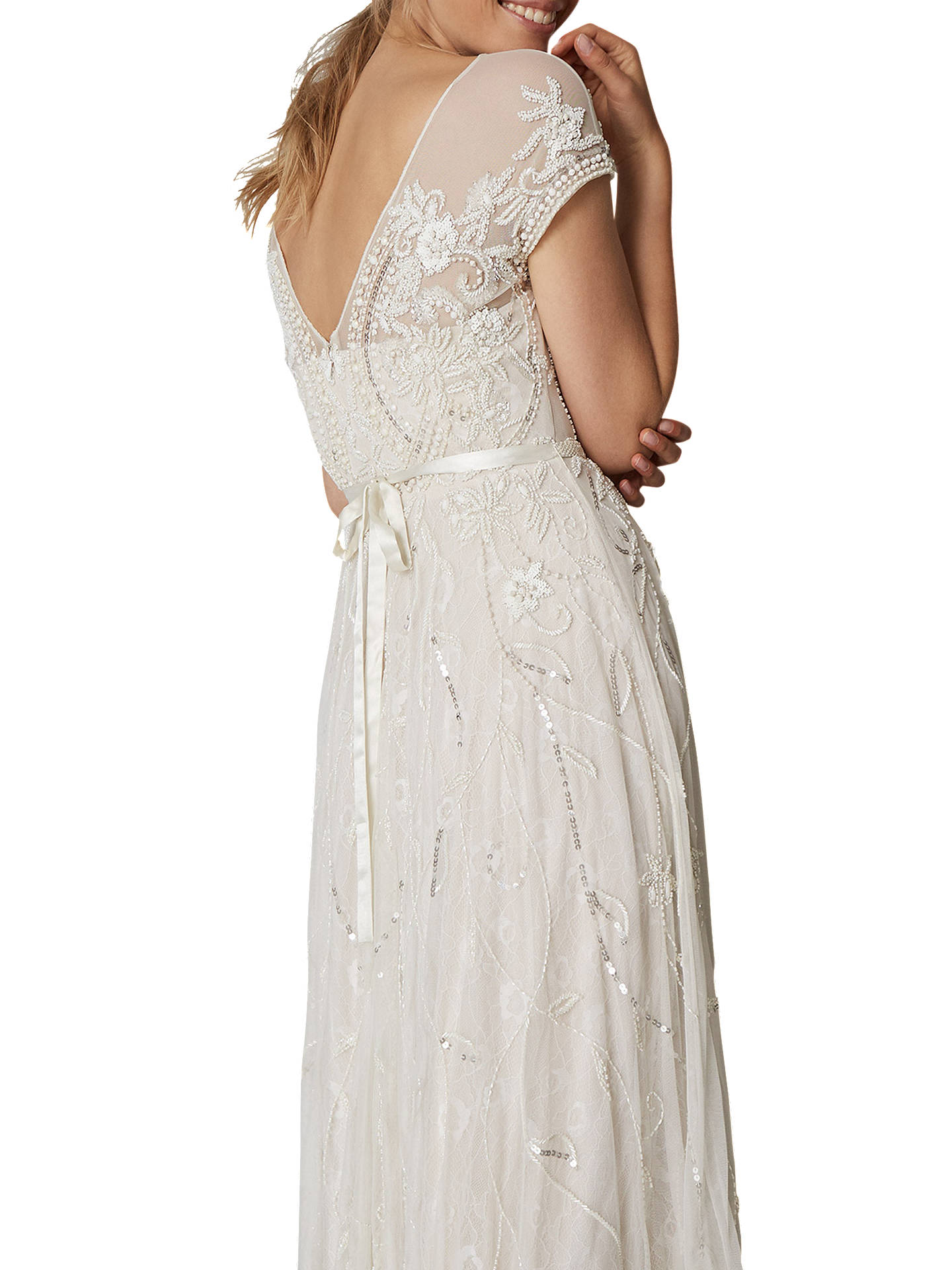 Buy Phase Eight Bridal Embellished Liliana Wedding Dress, White Snow, 6 Online at johnlewis.com