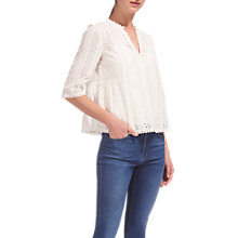 Buy Whistles Isidora Broderie Top, White Online at johnlewis.com
