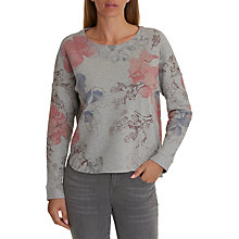 Buy Betty Barclay Floral Print Top, Silver/Blue Online at johnlewis.com
