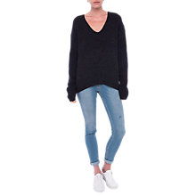 Buy French Connection Two Tone Jumper, Utility Blue/Multi Online at johnlewis.com