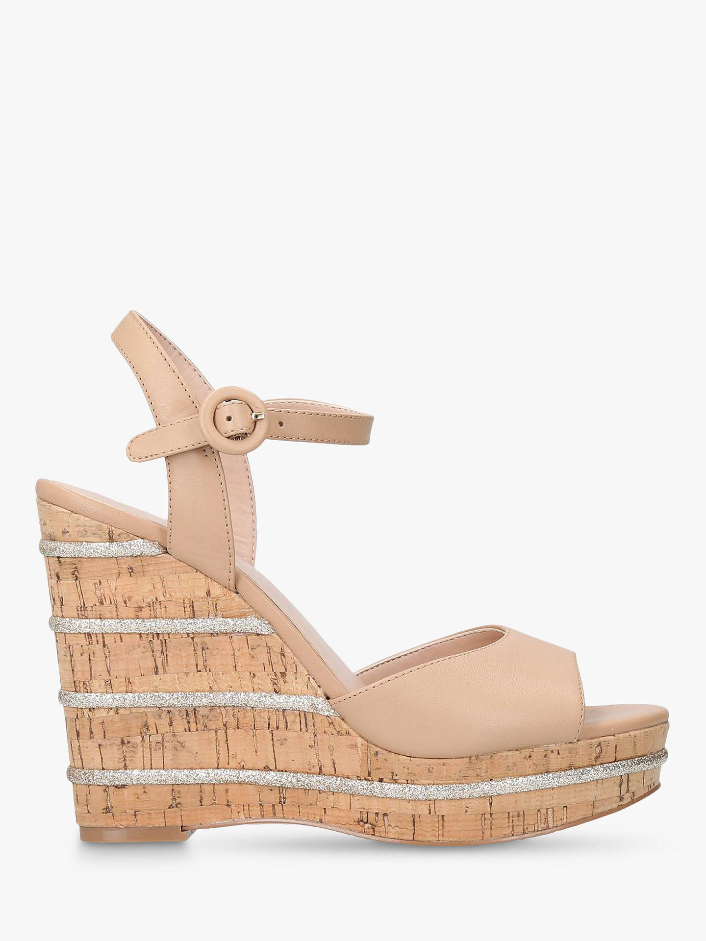 c8aebc76eb9 Kurt Geiger London Ally Wedge Heel Sandals, Tan Leather