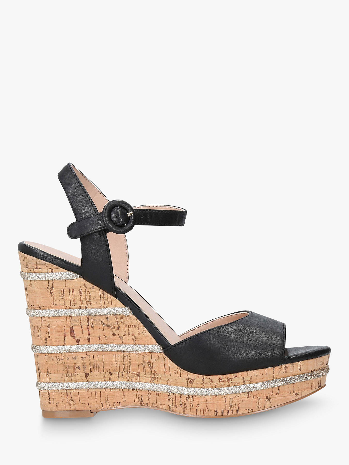 outlet for sale better price usa cheap sale Kurt Geiger London Ally Wedge Heel Sandals, Black Leather