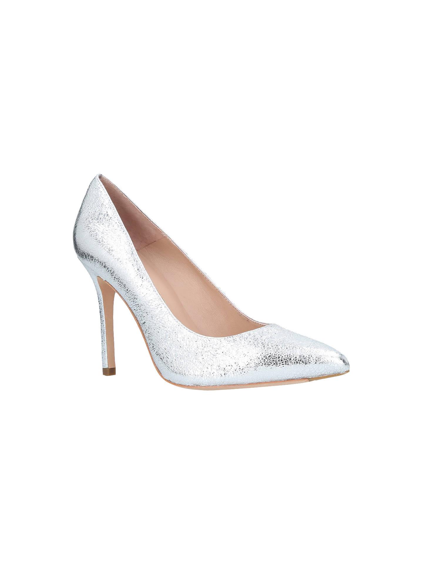 08caa2e80cb Kurt Geiger London Brompton High Heel Court Shoes, Silver at John ...
