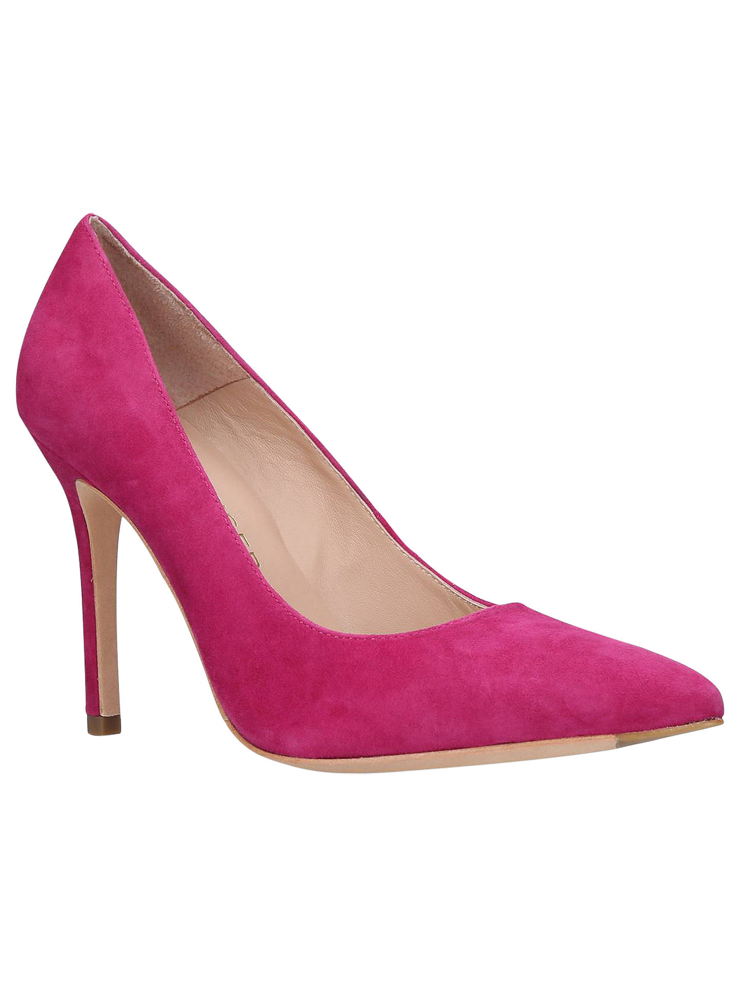 3ba4a7a48aa Kurt Geiger London Brompton High Heel Court Shoes, Pink Suede at ...