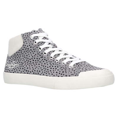 Kurt Geiger Lenny Lace Up High Top Trainers, Grey