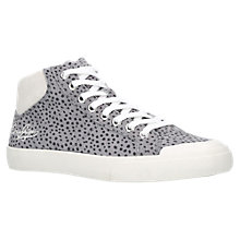 Buy Kurt Geiger Lenny Lace Up High Top Trainers, Grey Online at johnlewis.com