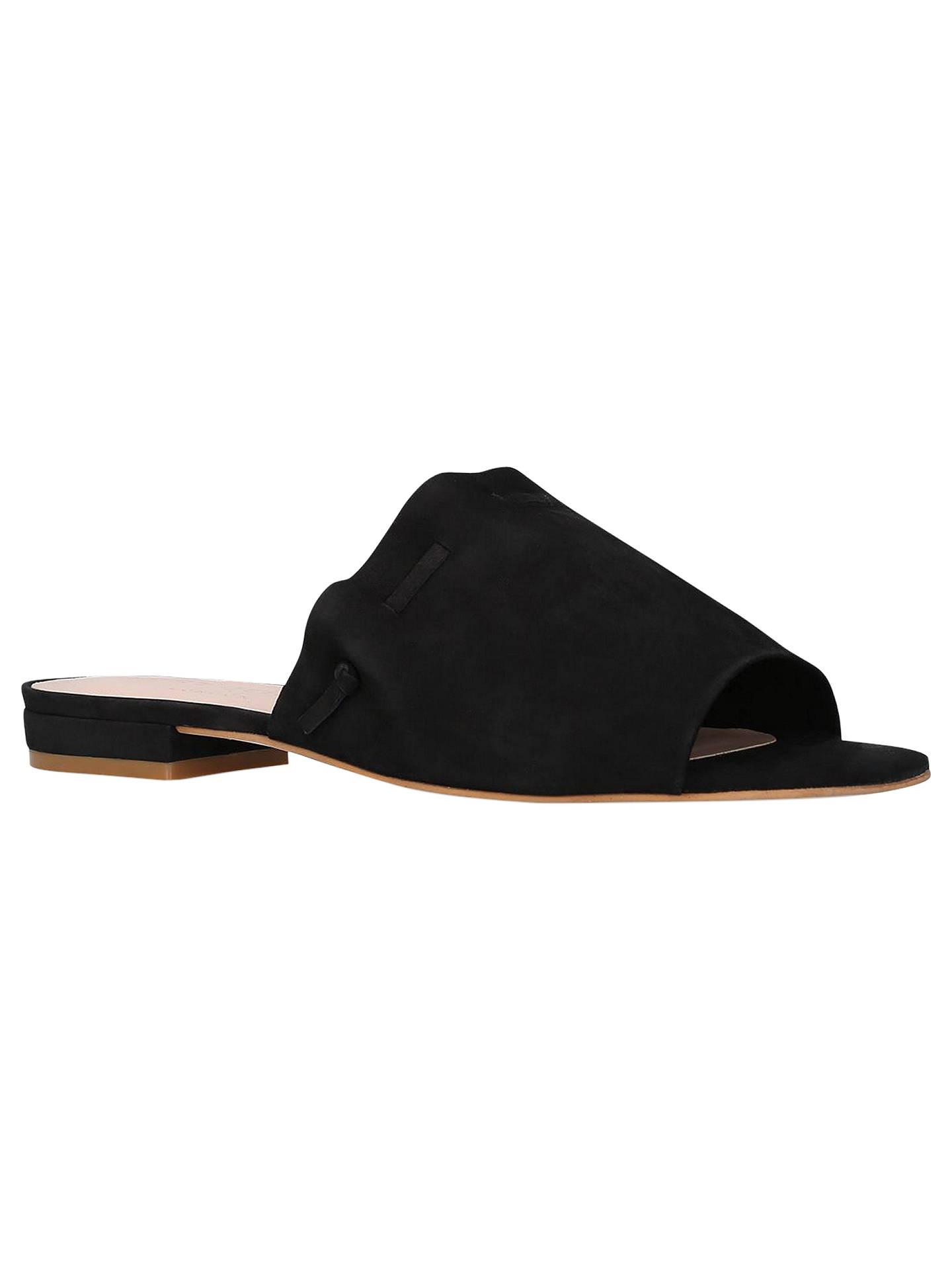 464d471e093 Kurt Geiger Opal Leather Mules, Black at John Lewis & Partners