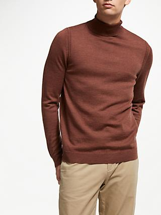 John Lewis & Partners Extra Fine Merino Wool Roll Neck Jumper
