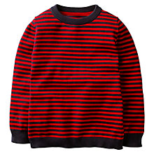 Buy Mini Boden Boys' Crew Neck Jumper, Red Online at johnlewis.com