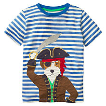Buy Mini Boden Boys' Pet Pirate Applique T-Shirt, Blue Online at johnlewis.com