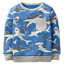 Buy Mini Boden Boys' Fun Shark Sweatshirt, Blue Online at johnlewis.com