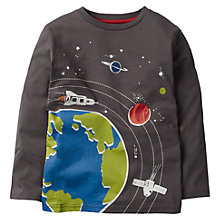 Buy Mini Boden Boys' Space Glow In The Dark T-Shirt, Grey Online at johnlewis.com
