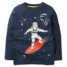 Buy Mini Boden Boys' Space Glow In The Dark T-Shirt, Navy Online at johnlewis.com
