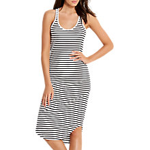 Buy Seafolly Bali Hai Stripe Ribbed Dress, Black/White Online at johnlewis.com