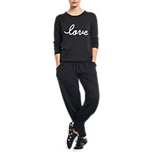 Buy hush Love Jumper, Charcoal Marl/ White Online at johnlewis.com