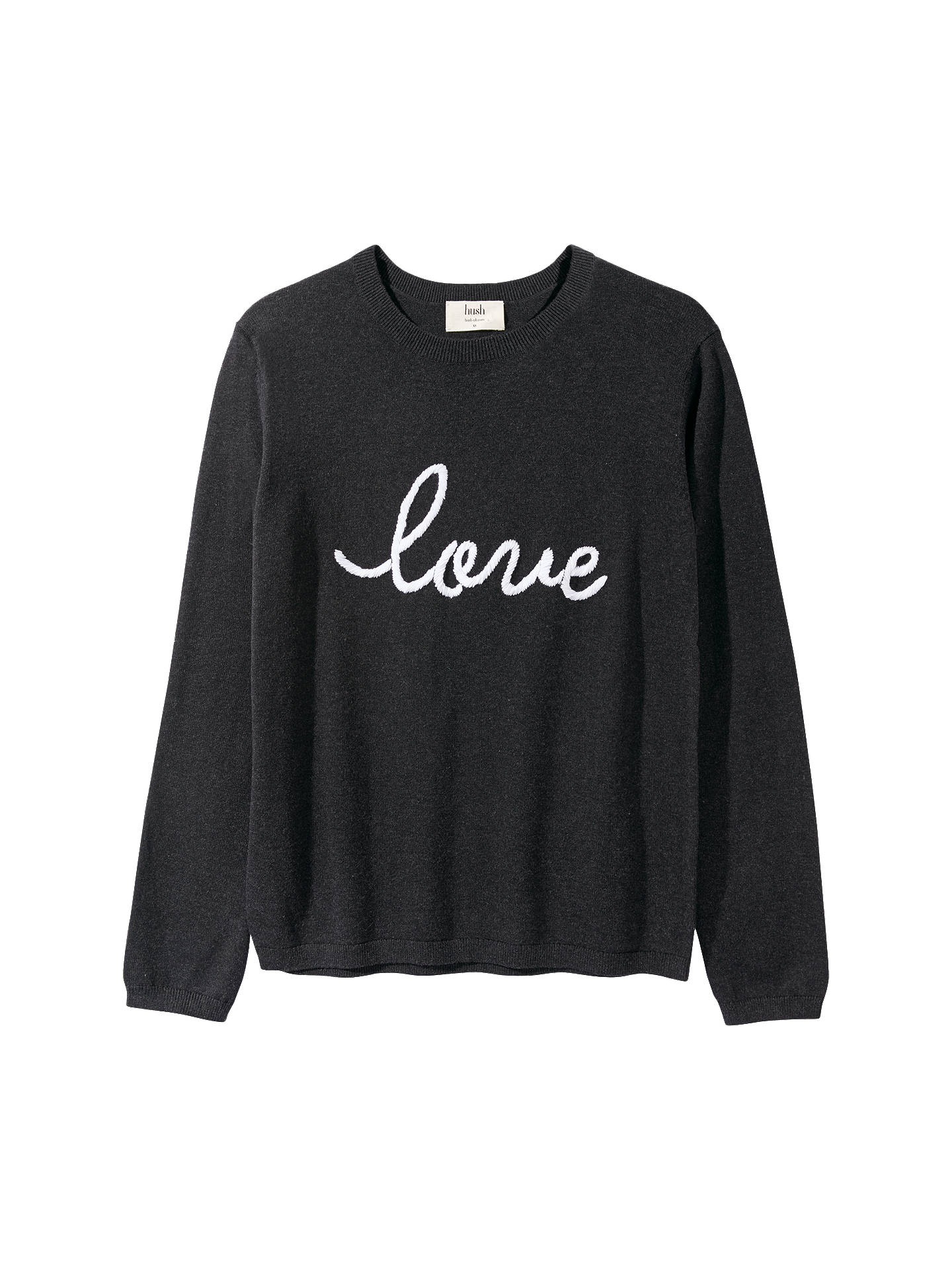Buyhush Love Jumper, Charcoal Marl/White, XS Online at johnlewis.com