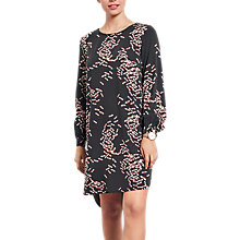 Buy hush Dragonfly Print Dress, Black/Pink Online at johnlewis.com