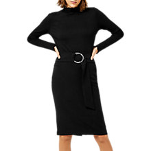 Buy Warehouse O Ring Midi Skirt, Black Online at johnlewis.com