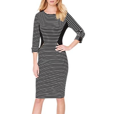 Damsel in a Dress Addison Striped Dress, Black/White