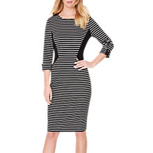 Buy Damsel in a Dress Addison Striped Dress, Black/White Online at johnlewis.com