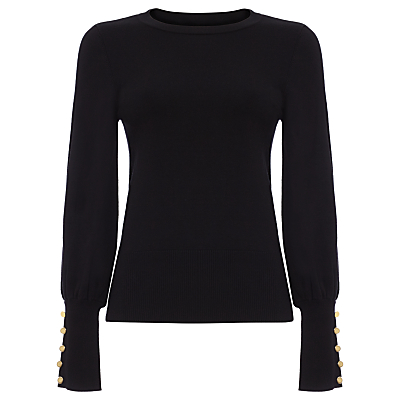 Damsel in a Dress Peyton Button Sleeve Jumper, Black