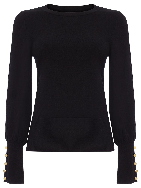 Damsel in a dress Damsel in a Dress Peyton Button Sleeve Jumper, Black