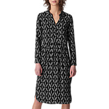 Buy Whistles Courtney Geo Print Dress, Black/White Online at johnlewis.com
