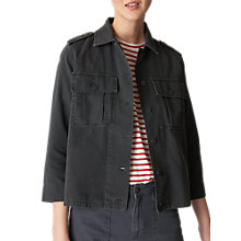 Buy Whistles Utility Jacket, Grey Online at johnlewis.com