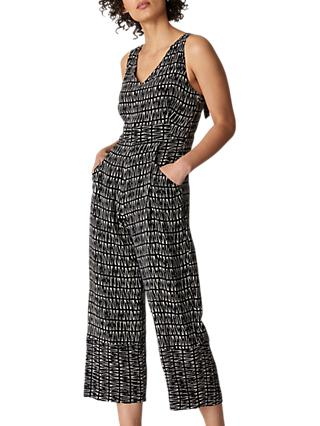 Whistles Sahara Sleeveless Jumpsuit, Black/Multi