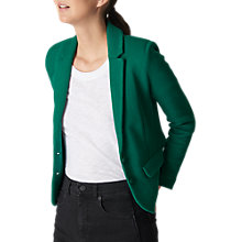Buy Whistles Slim Jersey Jacket, Green Online at johnlewis.com